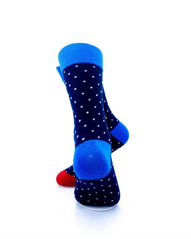 CoolDeSocks Exquisite Dot Socks rear view image