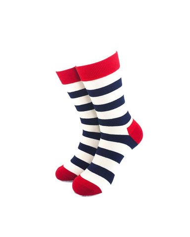 CoolDeSocks Exquisite Stripe Socks front view image