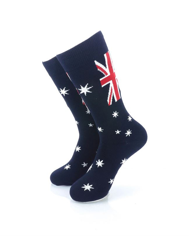 CoolDeSocks Flag of Australia Crew Socks front view image