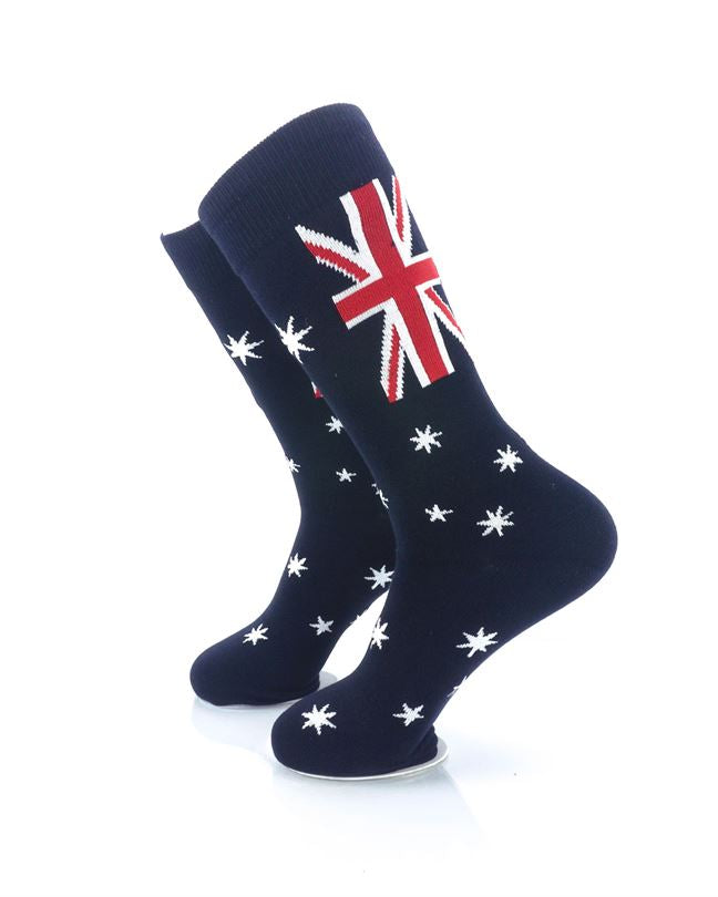 CoolDeSocks Flag of Australia Crew Socks left view image