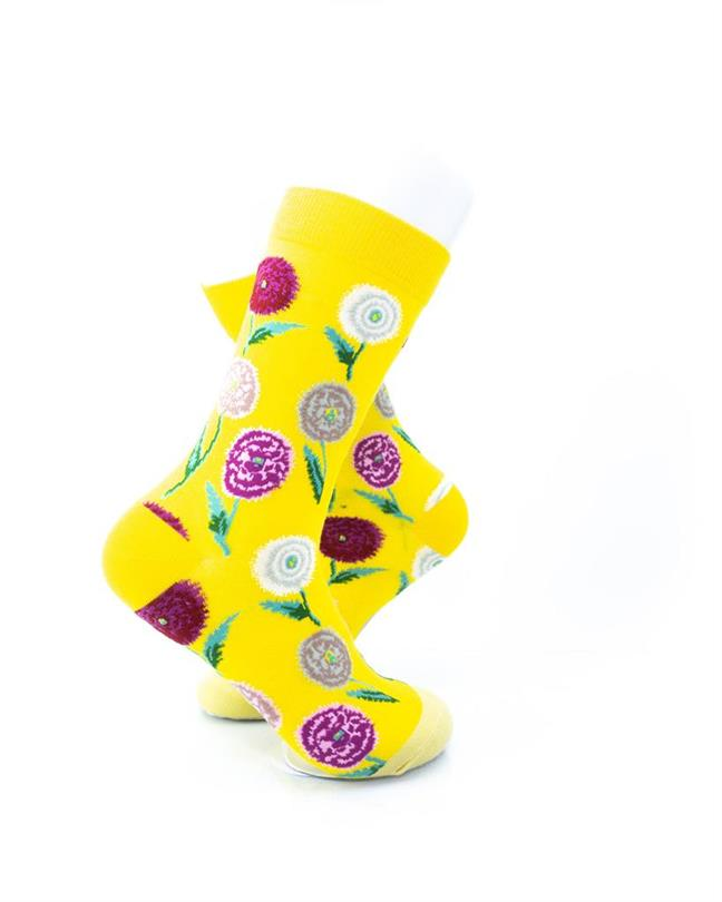 cooldesocks flowers carnation crew socks right view