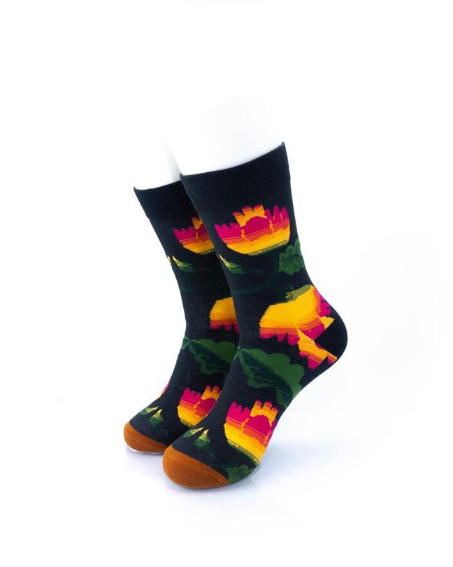 CoolDeSocks Flowers - Hibiscus Socks front view image