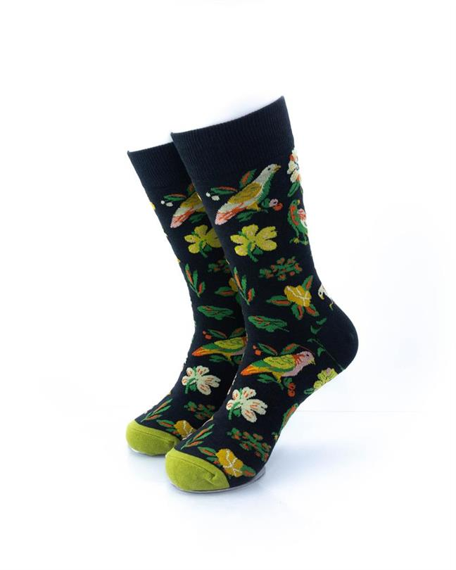 CoolDeSocks Tropical Garden Socks front view image
