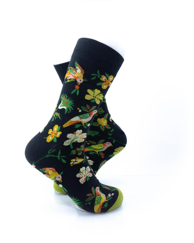 CoolDeSocks Tropical Garden Socks right view image