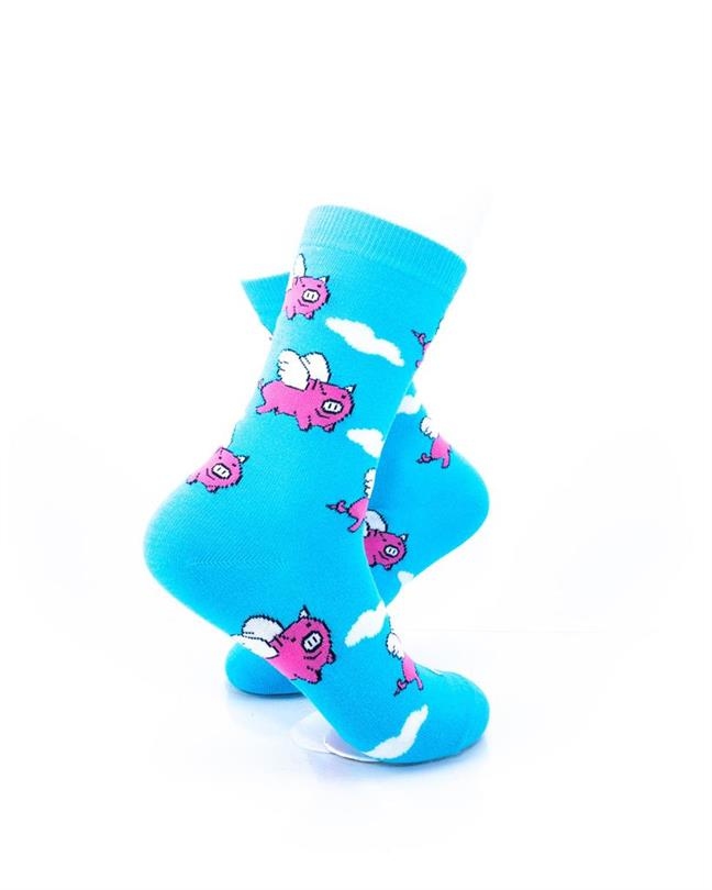 CoolDeSocks Flying Pig Socks right view image