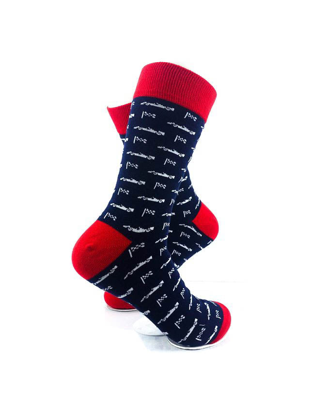 cooldesocks formula 1 flag crew socks right view image