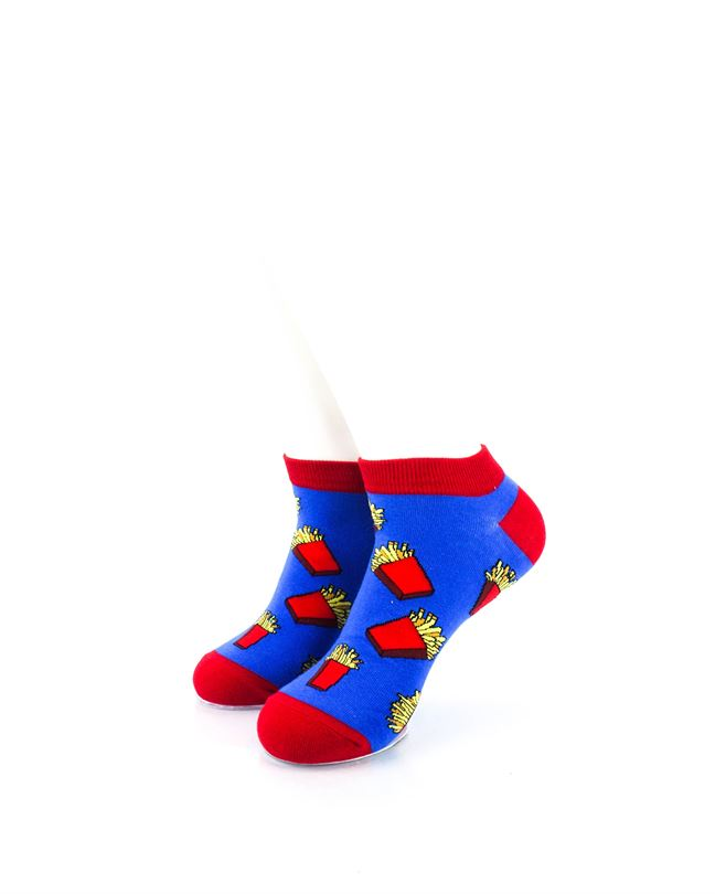 CoolDeSocks French Fries Ankle Socks front view image