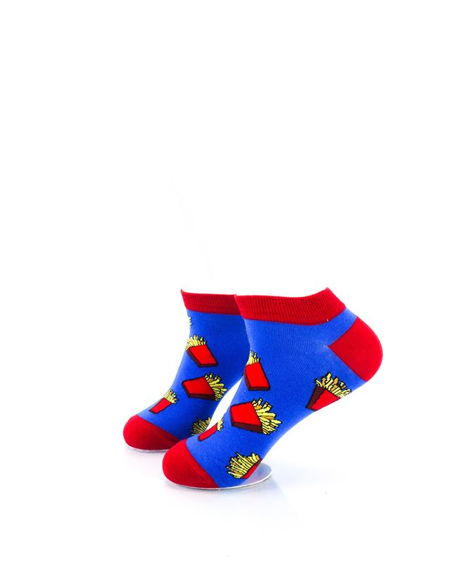 CoolDeSocks French Fries Ankle Socks left view image