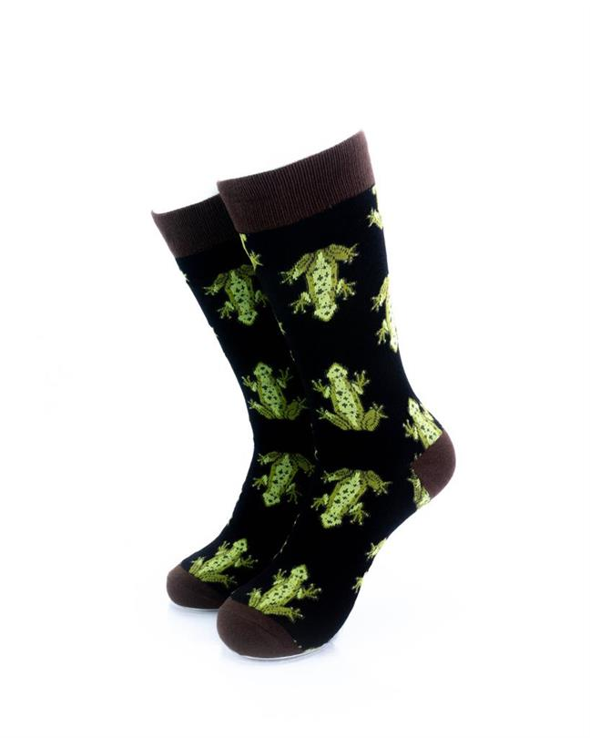 CoolDeSocks Frog Print Socks front view image