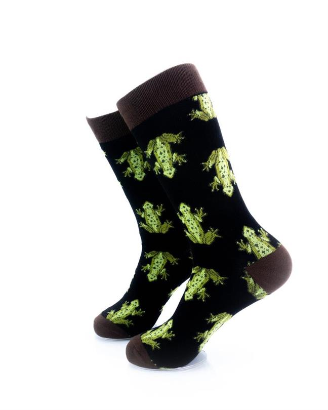 CoolDeSocks Frog Print Socks left view image