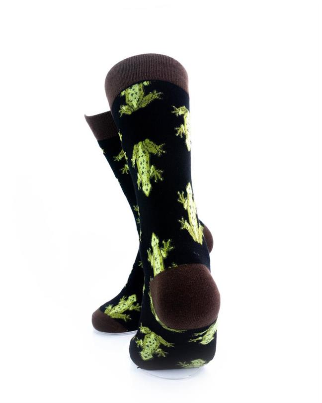 CoolDeSocks Frog Print Socks rear view image