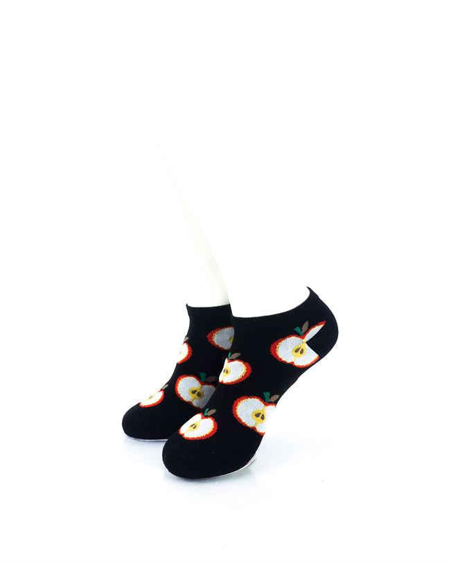 CoolDeSocks Fruit Apple Liner Socks front view image