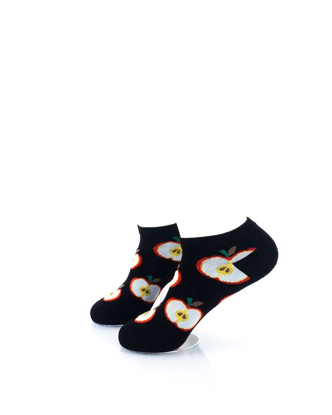 CoolDeSocks Fruit Apple Liner Socks left view image