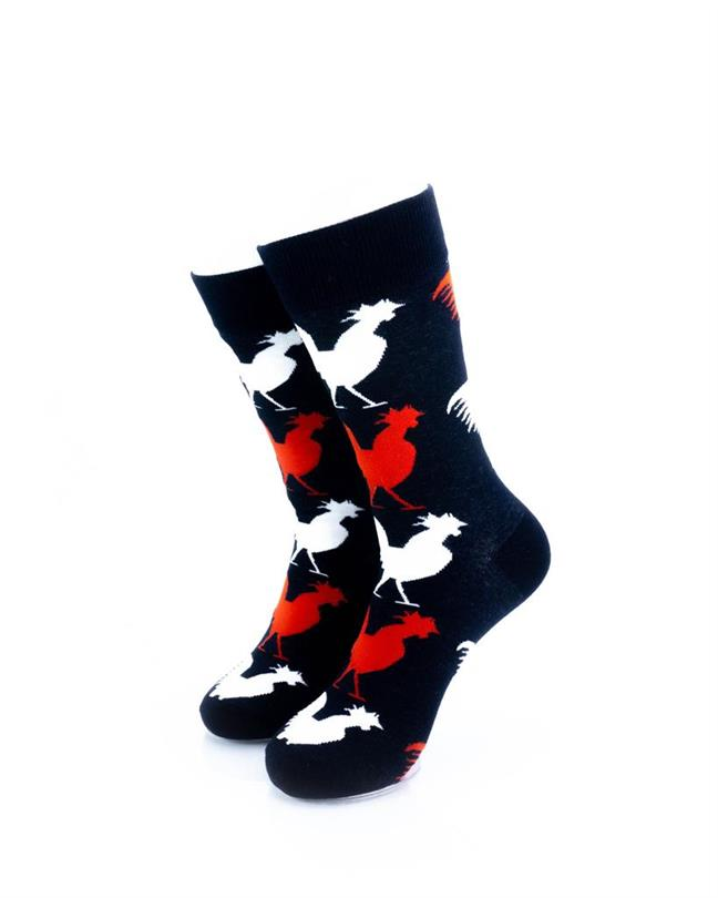 CoolDeSocks Gallic Rooster Socks front view image