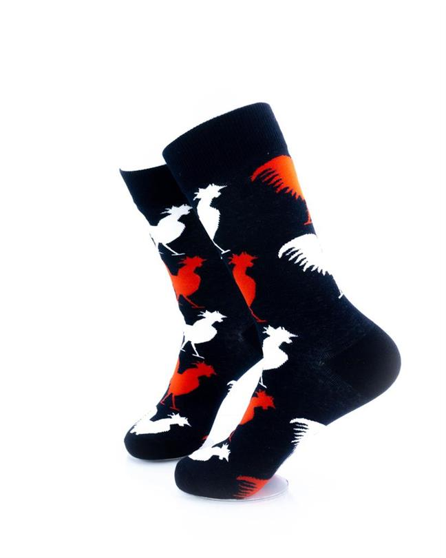 CoolDeSocks Gallic Rooster Socks left view image