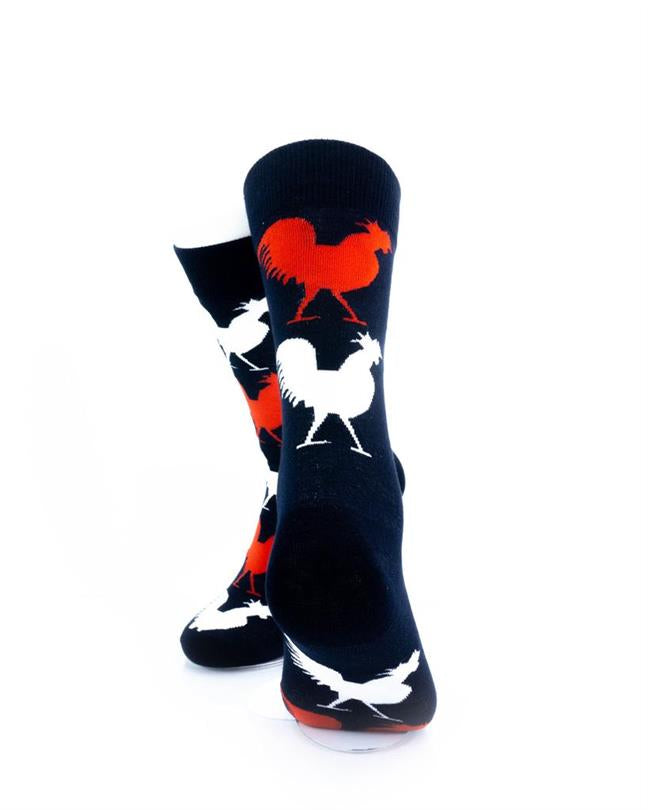 CoolDeSocks Gallic Rooster Socks rear view image