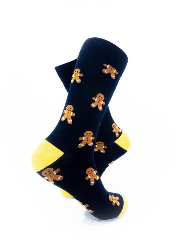 CoolDeSocks Gingerbread Man Socks right view image