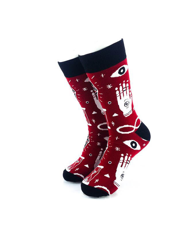 cooldesocks hamsa crew socks front view