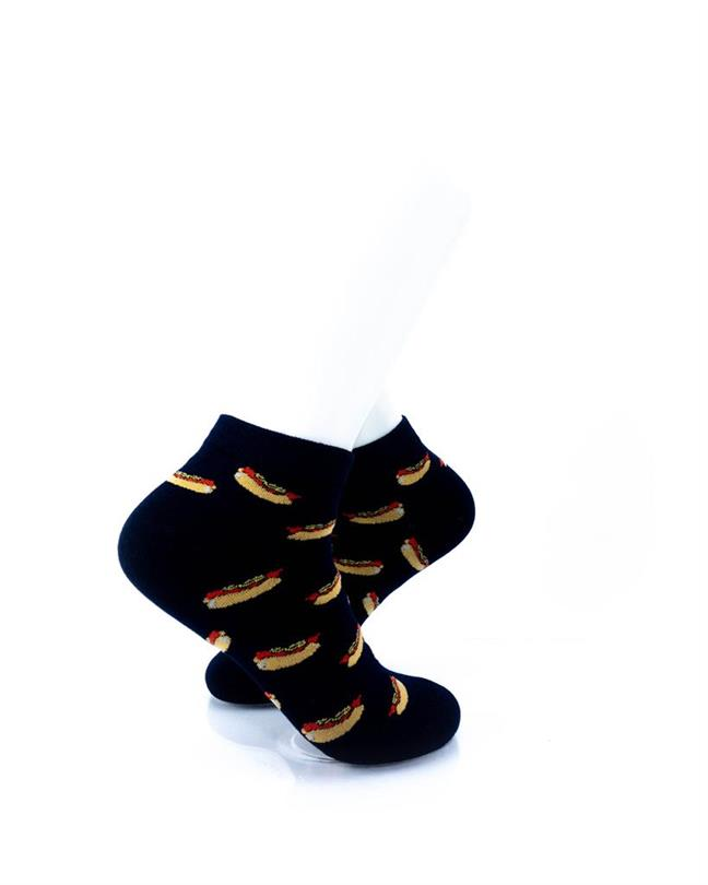 CoolDeSocks Hot Dogs Socks right view image