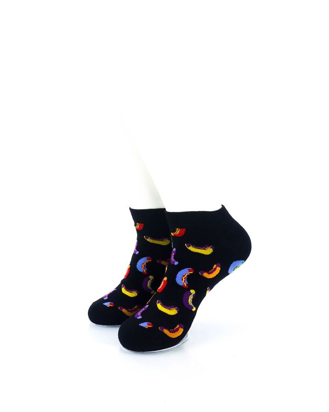 CoolDeSocks Hot Dogs Colorful Ankle Socks front view image