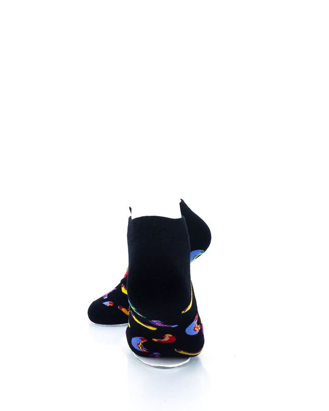 CoolDeSocks Hot Dogs Colorful Ankle Socks rear view image