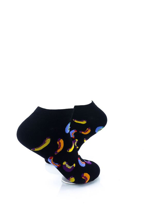 CoolDeSocks Hot Dogs Colorful Ankle Socks right view image