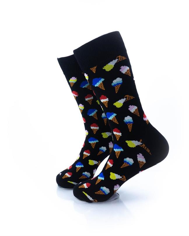 CoolDeSocks Ice Cream Socks left view image