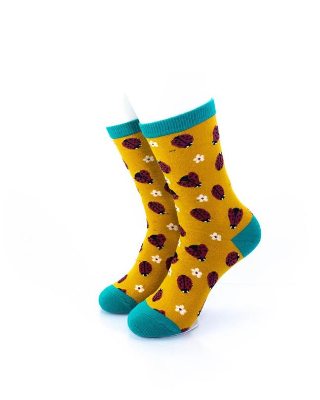 CoolDeSocks Ladybug Socks front view image