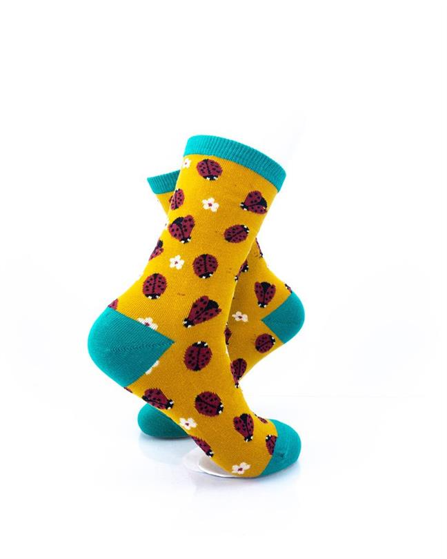 CoolDeSocks Ladybug Socks right view image