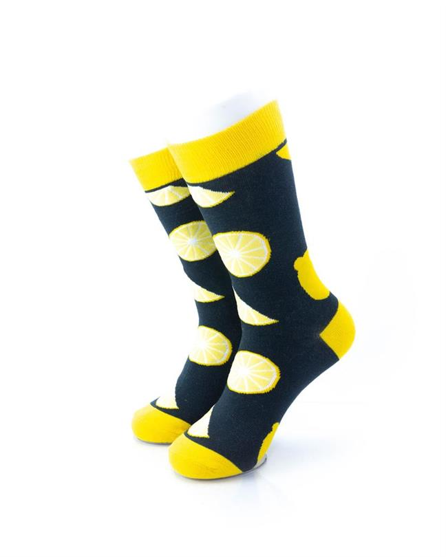 CoolDeSocks Lemon Socks front view image