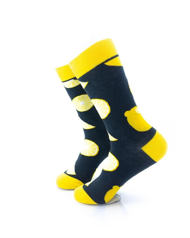 CoolDeSocks Lemon Socks left view image