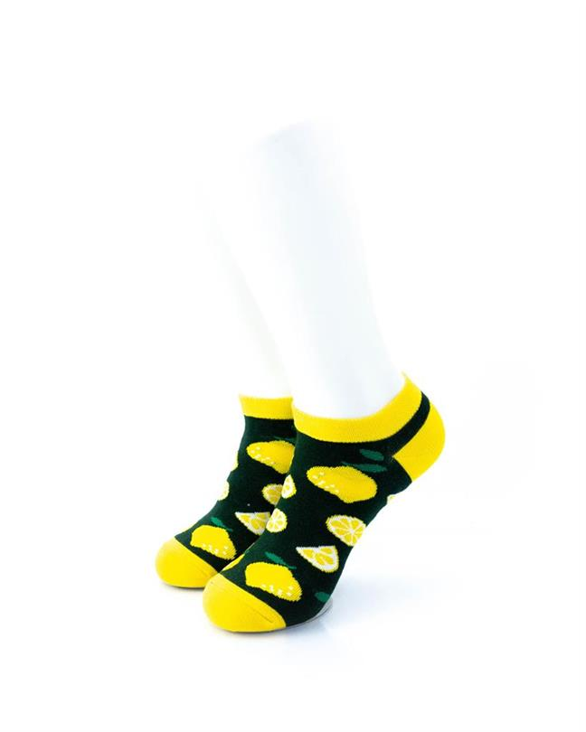 cooldesocks lemon slices ankle socks front view