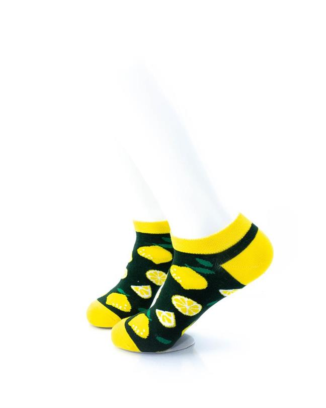 cooldesocks lemon slices ankle socks left view