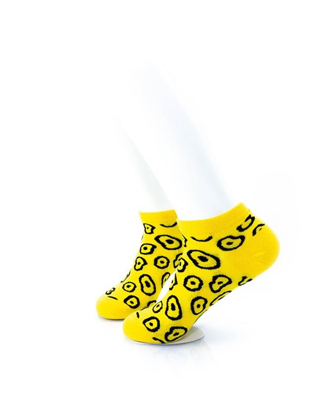 CoolDeSocks Leopard Print Yellow Socks left view image