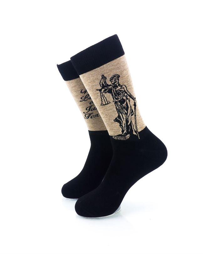 CoolDeSocks Liberty Justice Crew Socks front view image