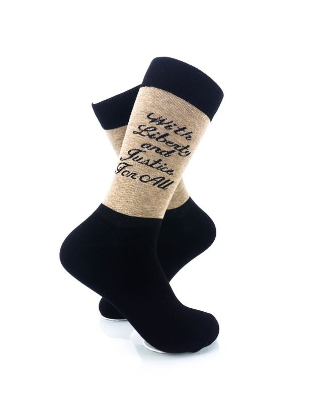 CoolDeSocks Liberty Justice Crew Socks right view image