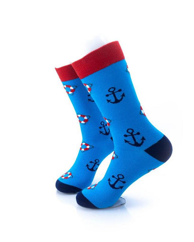 CoolDeSocks Lifebuoy and Anchor Socks left view image