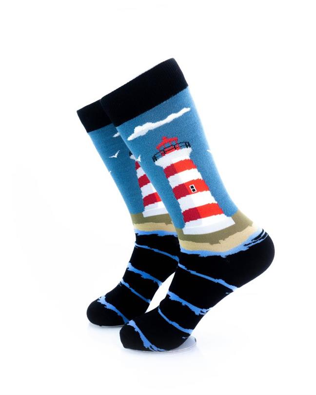 CoolDeSocks Lighthouse Socks left view image