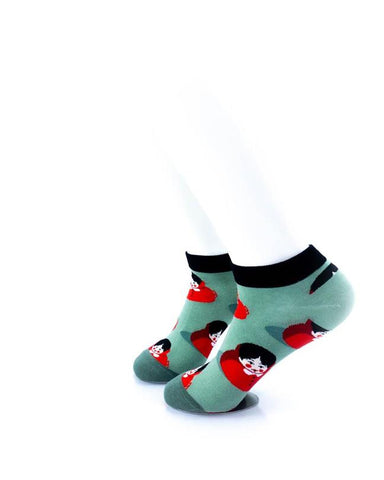 cooldesocks little red riding hood ankle socks left view