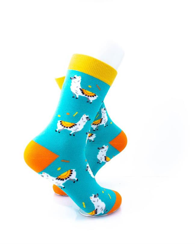 CoolDeSocks Llama Socks right view image