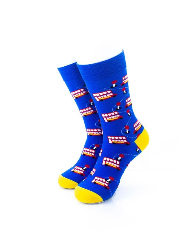 CoolDeSocks London - Double Decker Socks front view image