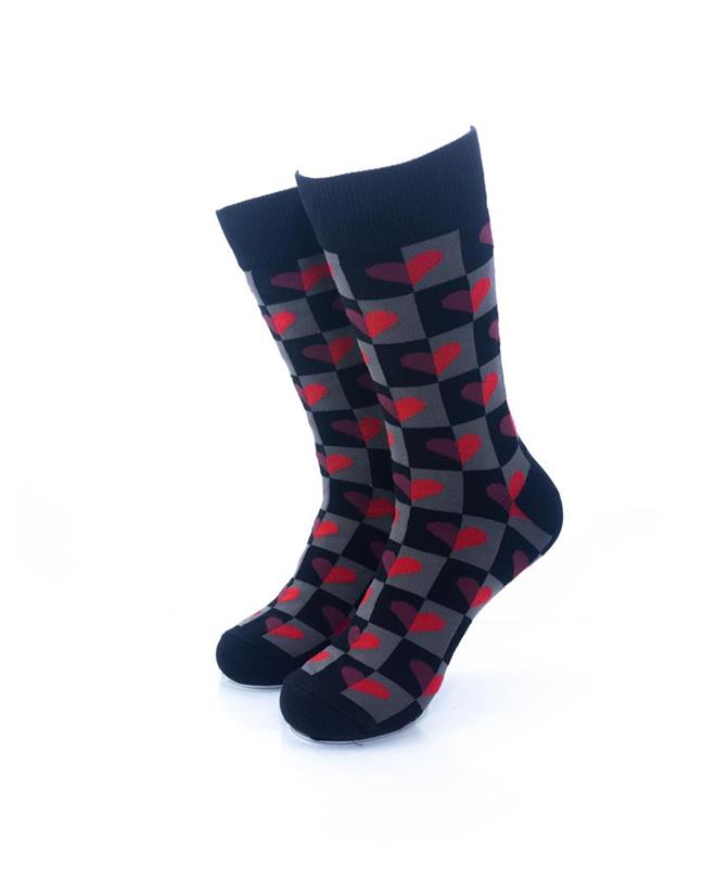 CoolDeSocks Love Dark Pattern Socks front view image