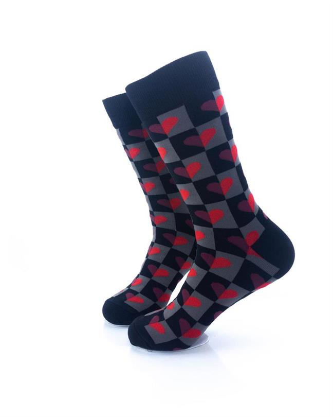 CoolDeSocks Love Dark Pattern Socks left view image