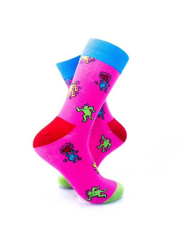 cooldesocks love party pink crew socks right view