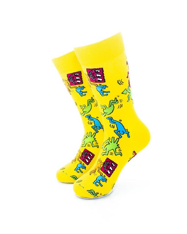 CoolDeSocks Love Party - Yellow Socks front view image