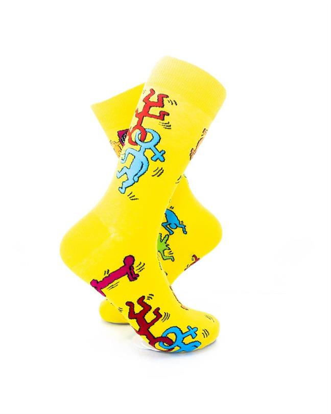 CoolDeSocks Love Party - Yellow Socks right view image