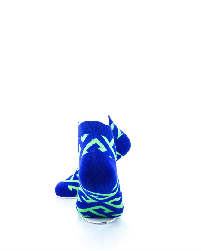 CoolDeSocks Maze Blue Green Ankle Socks rear view image