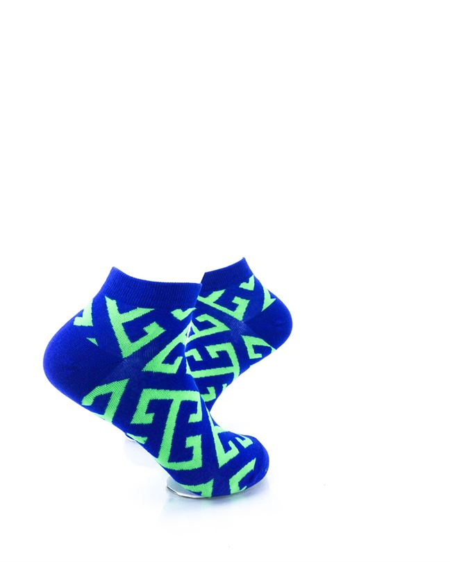 CoolDeSocks Maze Blue Green Ankle Socks right view image