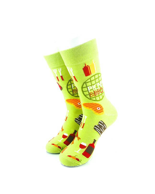 cooldesocks meal bbq crew socks front view image
