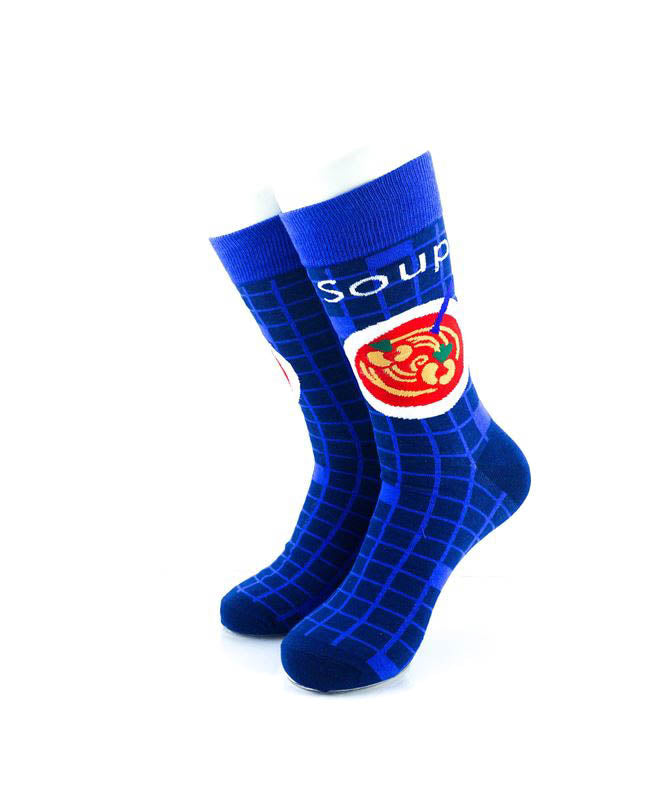 cooldesocks meal soup crew socks front view image